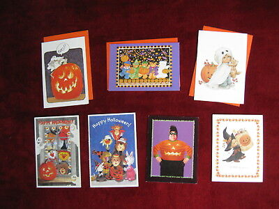 Suzys zoo card stationary paper blank note cards wenvelopes plus 7 unused vintage halloween greeting cards by current inc morehead suzys zoo m4hsunfo