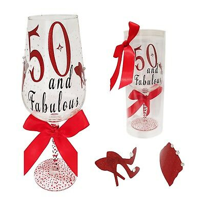21st, 16th, 18th, 50th, 30th 40th 60th Birthday Chirstmas,Wine Glass, Gift Boxed