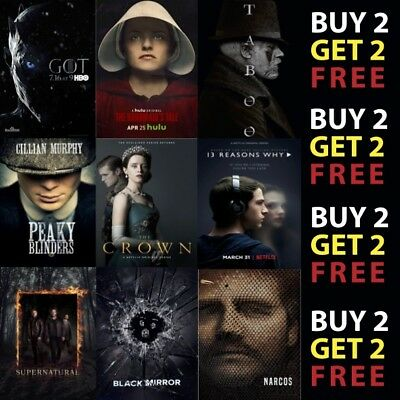 MOST POPULAR TV SERIES OF 2017 Glossy Poster Print 300gsm Paper/Card