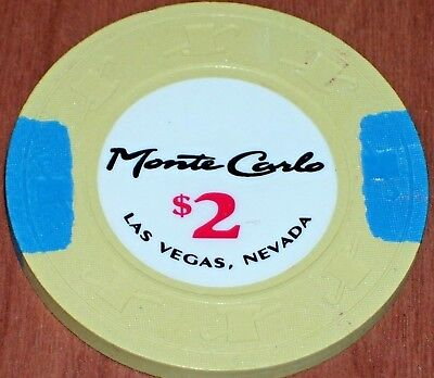 $2 Gaming Chip From The Monte Carlo Casino In Las Vegas Nv