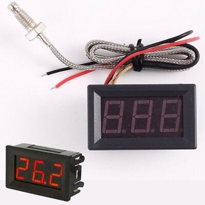 LED Digital Display High Temperature Tester + K-type Thermocouple M6 Probe