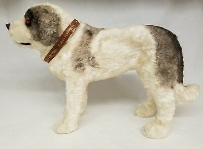 "Beautiful Vintage 1940's Saint Bernard Dog Candy Container 11"" Long"