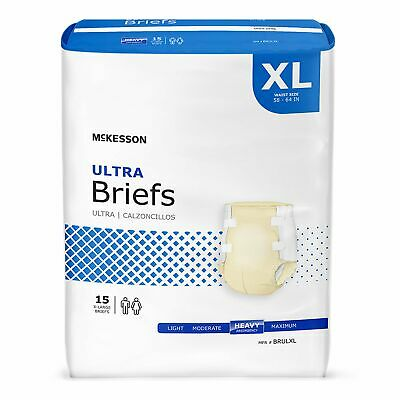 McKesson HEAVY Absorbency Adult Diaper Brief X-LARGE Contoured BRULXL 60/Case