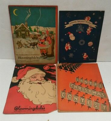 Lot of 4 Antique Bloomingdale's Department Store Children's Books Christmas 20s