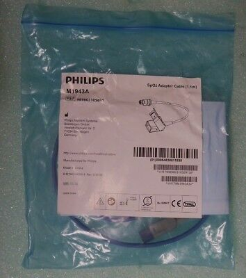 Philips M1943A SpO2 Adapter Cable (1.1m)