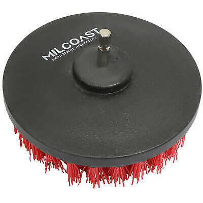 Milcoast 5-inch Round Full Bristle Drill Brush Attachment