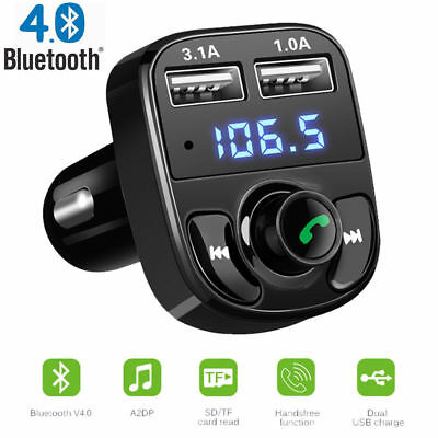 Auto Wireless Bluetooth FM Transmitter Dual USB Ladegerät Audio MP3 Player