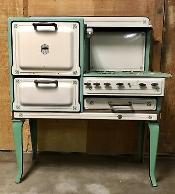 The Estate Stove Co. Gorgeous Antique Gas Cook Stove Fresh Air Oven 1920's