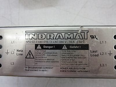 Indramat NFD02.2-480-016/3XAC480V NFD 02.2 480 016 Power Line Filter 8101b