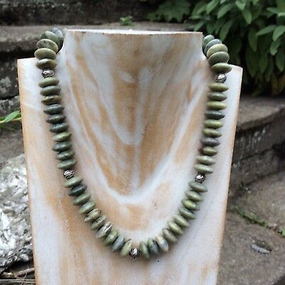 Connemara marble celtic necklace 17.5 inch. Chunky statement necklace,Irish