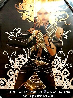 2018 SDCC Comic Con EXCLUSIVE Cassandra Clare Queen of Air and Darkness Poster