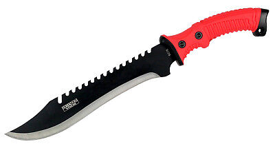 """16"""" Full Tang Rubber Handle Hunting / Combat / Survival / Bowie Knife Machete -"""