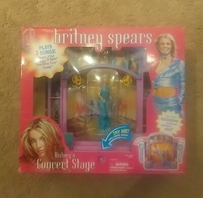 Britney Spears Concert Stage Set 2001 Play Along Lights Sound Doll NEW Exclusive