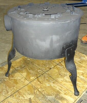 "Old Fashioned Cast Iron Brick Lined N.gas ""ekco"" Stove With Jet Ring Burners"