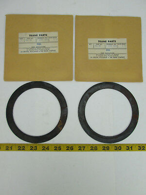 """Vintage Lot Of 2 Trane Parts Take Up Ring Part No. RNG88 5 1/4"""" OD x 4 1/8"""" ID T"""