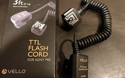 3ft Sony TTL flash cord For Sony Speedlite (MIS)