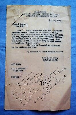 WWI Orders for ASSS-AEF, Signed and Noted with Copies Attached