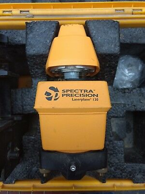 Spectra-Physics Precision Laserplane 130 Laser Level with Target Case Working