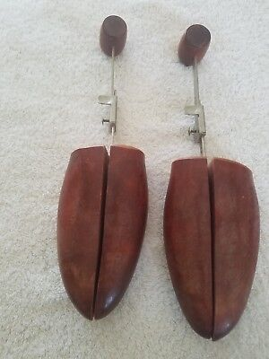 2pcs Mens Womens Cedar Wood Coil Spring Travel Shoe Trees Wooden Stretcher