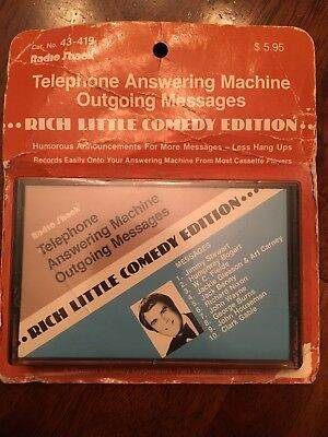 Radio Shack Telephone Answering Machine Messages Rich Little Comedy Edition NOS