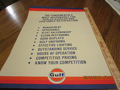 1960's Original Gulf Oil Dealer Poster! Great Condition