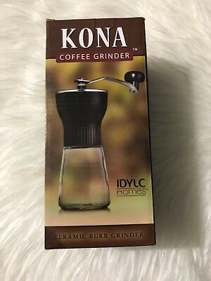 KONA Manual Coffee Grinder ~ Best Conical Burr Mini Mill with Professional Grade