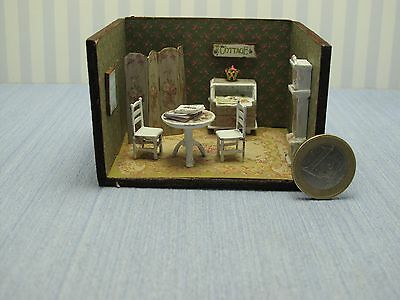 Dollhouse miniature 1/4 1:48 QS Quarter Inch Scale Furniture OOAK diorama 6  EEU