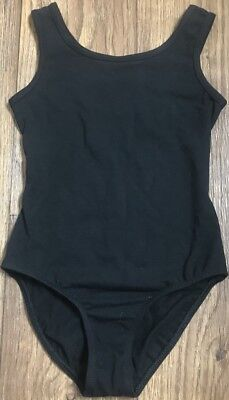 Danskin Girl's Black Sleeveless Dance/Ballet Leotard w/ Lining Size Small (6/6X)