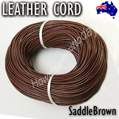 3mm Genuine Round Leather Cord Cowhide Hide String Thread Findings Jewellery