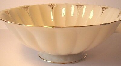 """Lotus China Collection 10"""" Lenox Centerpiece Serving Bowl footed ivory U.S.A."""