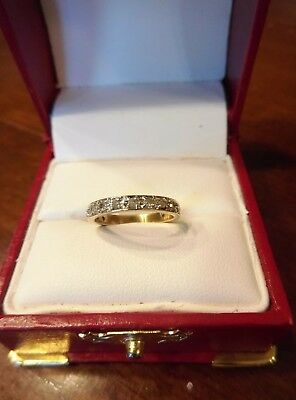 Vintage Art Deco 10K Yellow White Gold Diamond Wedding Band Ring Size 4.25 (282)