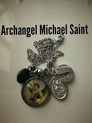 Code 387 Archangel Michael Infused Spiritual necklace Wrap me up Guardian Angel