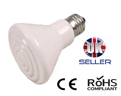 250 Watt Ceramic Heat Bulb Cone / Lamp Es Fit - Reptile / Poultry - In White