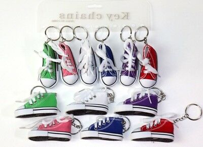 12 SHOE KEYCHAINS tennis shoe high tops key chains exercise walking shoes CUTE