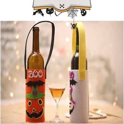 Funny Halloween Fabric Wine Bottle Bag Cover Champagne Holder Party Decor Props