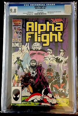 Alpha Flight #33 CGC 9.8 White Pages First Lady Deathstrike