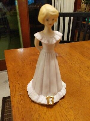 Enesco Growing Up Blonde Girl 13