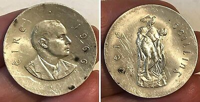 1966 EIRE Silver 10 SCILLING Coin Ireland