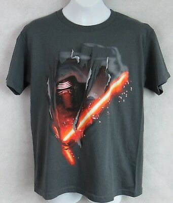 Star Wars Boys T-Shirt Officially Licensed Kylo Ren Lightsaber Free Shipping