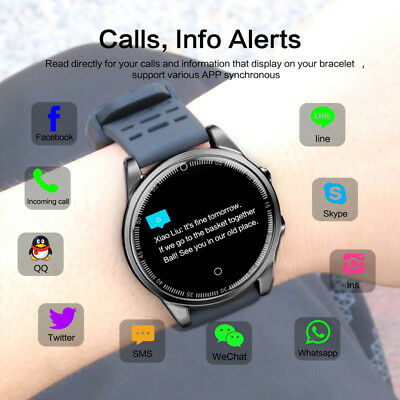 R13 Waterproof Sport SmartWatch Blood Pressure HeartRate Monitor for iOS Android
