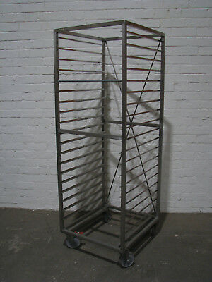 Stainless Steel Mobile Bakery Rack Trolley - 19 Tray
