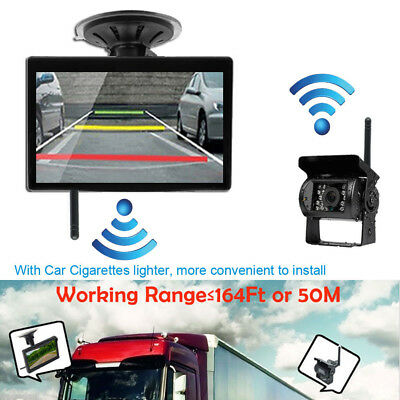 "Wireless Rear View Backup System Night Vision Camera+5"" Monitor For Truck Bus RV"
