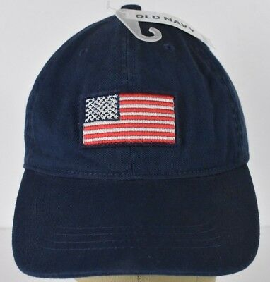 5790f5e956429 Navy Blue Old Navy USA Flag Embroidered Baseball Hat Cap Adjustable Strap