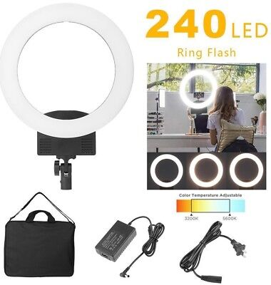 Camera Photo Video 36W 240pcs LED Ring Light 5500K Photography Dimmable Lamp