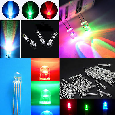 5/8/10mm 2/4pin RGB Tri-Color Common Anode/Cathode Round LED light BSG