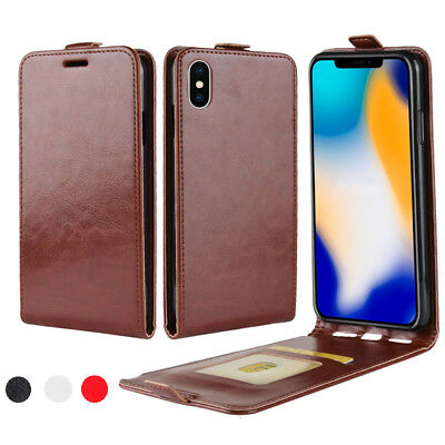 For iPhone X XR XS XS Max Business Vertical Flip Leather Card Wallet Case Cover