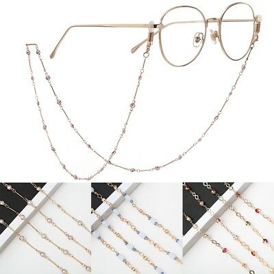 Eyeglass Reading Spectacles Sunglasses Glasses Cord Holder Crystal bead Chain