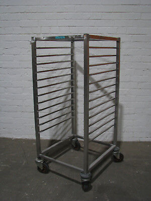 Stainless Steel Mobile Bakery Rack Trolley - 12 Tray