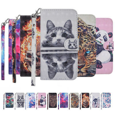 For XiaoMi RedMi 6 Pro 5Plus Note 5A 6A 4X Patterned Leather Wallet Case Cover
