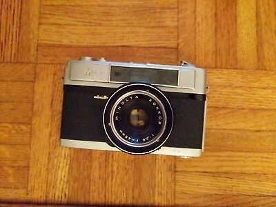 Minolta A5  Camera With  Rokkor 1:2.8 f=45 mm Len & Leather Case. Used